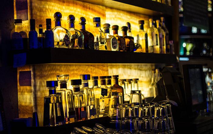 Des bouteilles de spiritueux