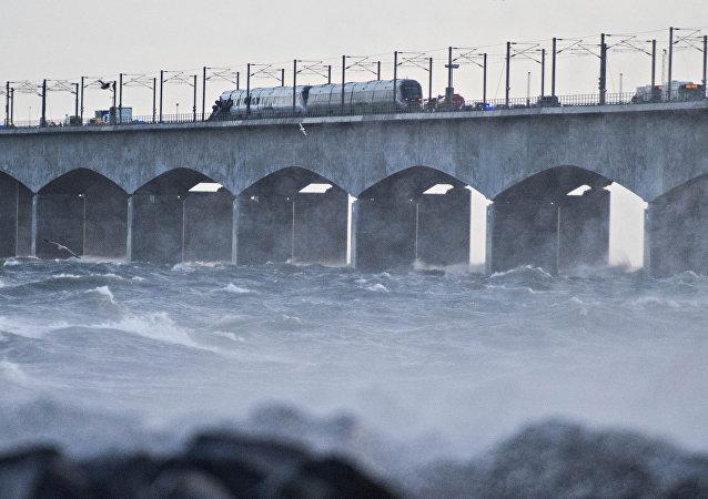 Accident de train au Danemark
