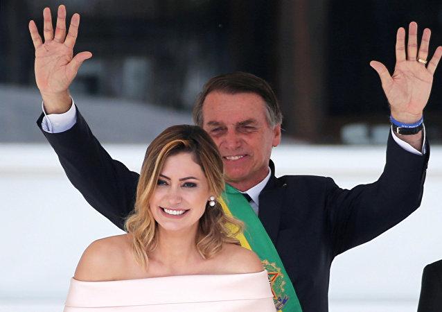 Michelle et Jair Bolsonaro à l'investiture