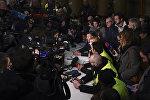 Conférence de presse dans les locaux du journal La Provence