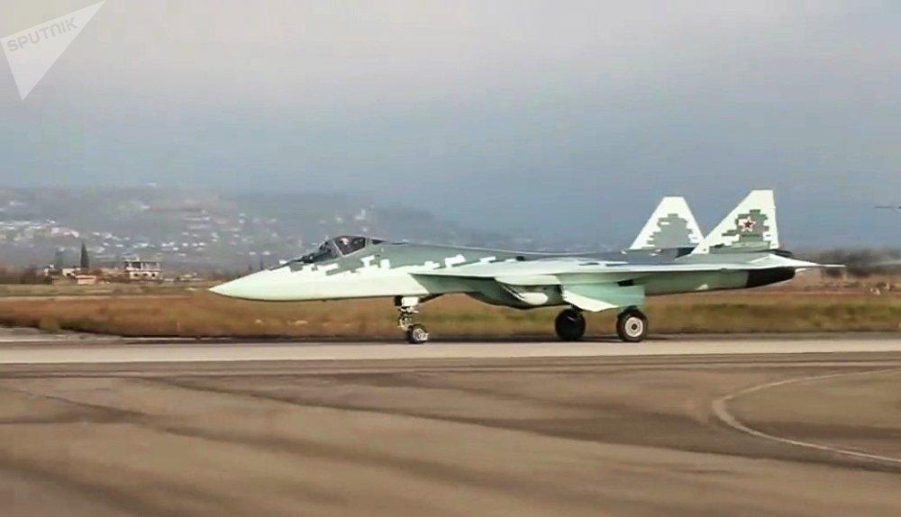 Le chasseur russe de cinquième génération Su-57 en Syrie