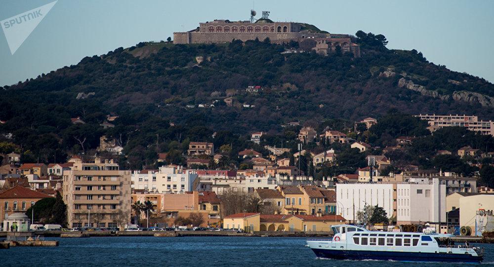 Toulon, ville française. La bataille de Toulon en août 1944 fut la première majeure victoire française sur l'Allemagne nazie