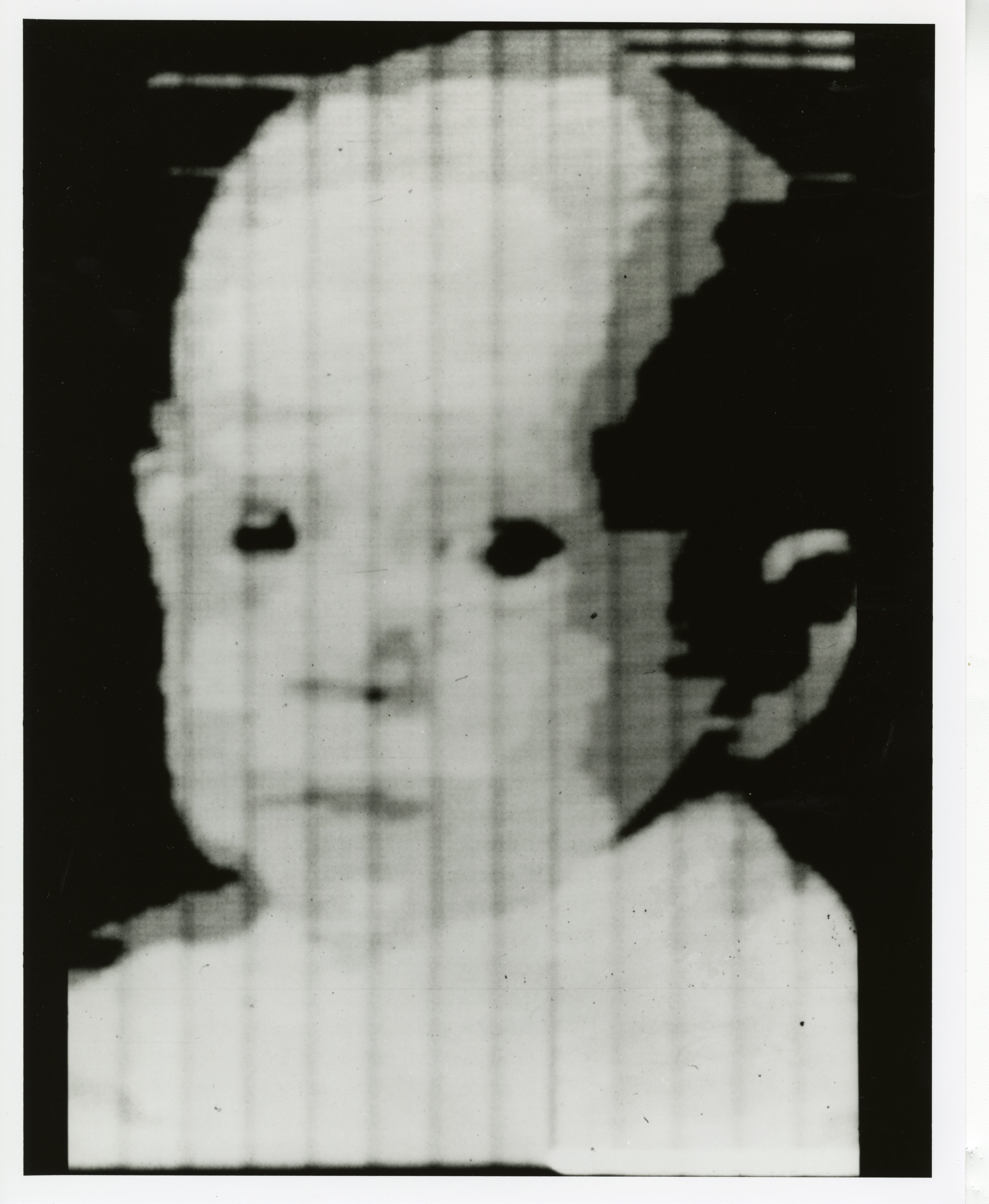 L'une des premières images numériquse au monde, qui représente Walden Kirsch, fils du chercheur Russell Kirsch