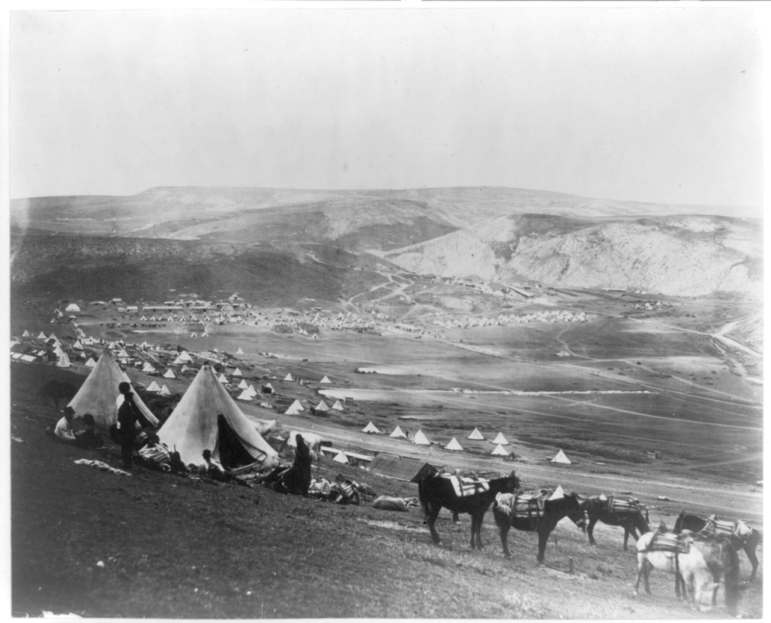 Un camp de cavalerie près de Balaklava