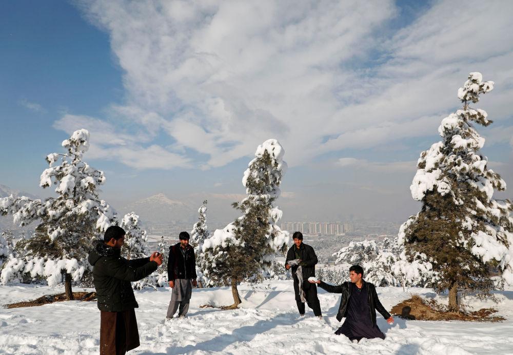 Kaboul sous un manteau de neige