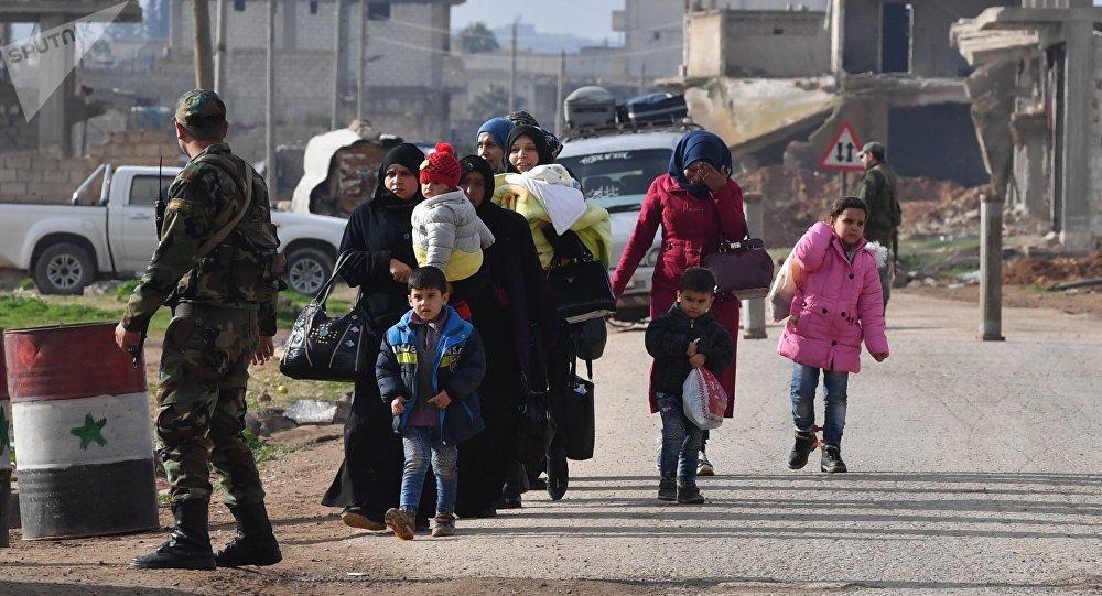 Couloir humanitaire dans le gouvernorat d'Idlib