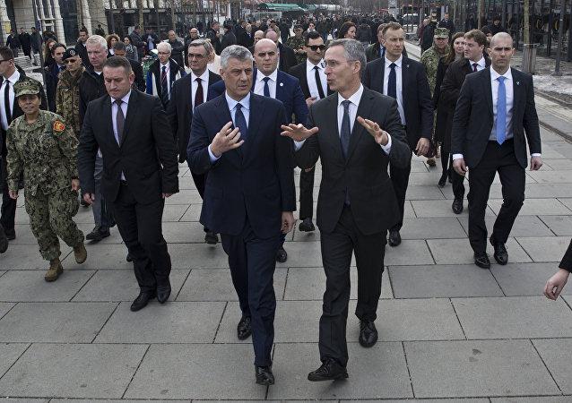 Hashim Thaci et Jens Stoltenberg