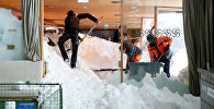 Conséquences de l'avalanche descendue sur la station de ski alpin suisse