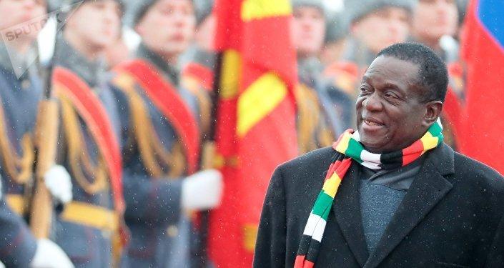 Le Président zimbabwéen Emmerson Mnangagwa en visite en Russie