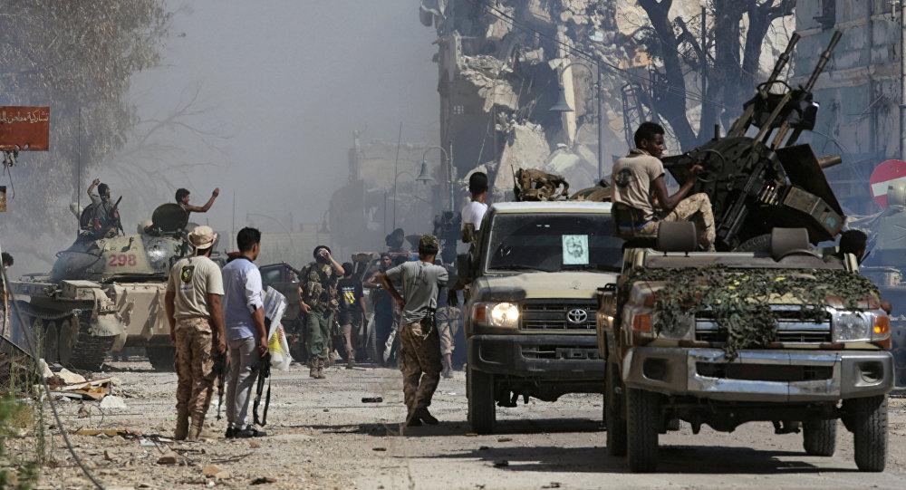 Des membres de l'Armée nationale libyenne (ANL) à Benghazi (archive photo)