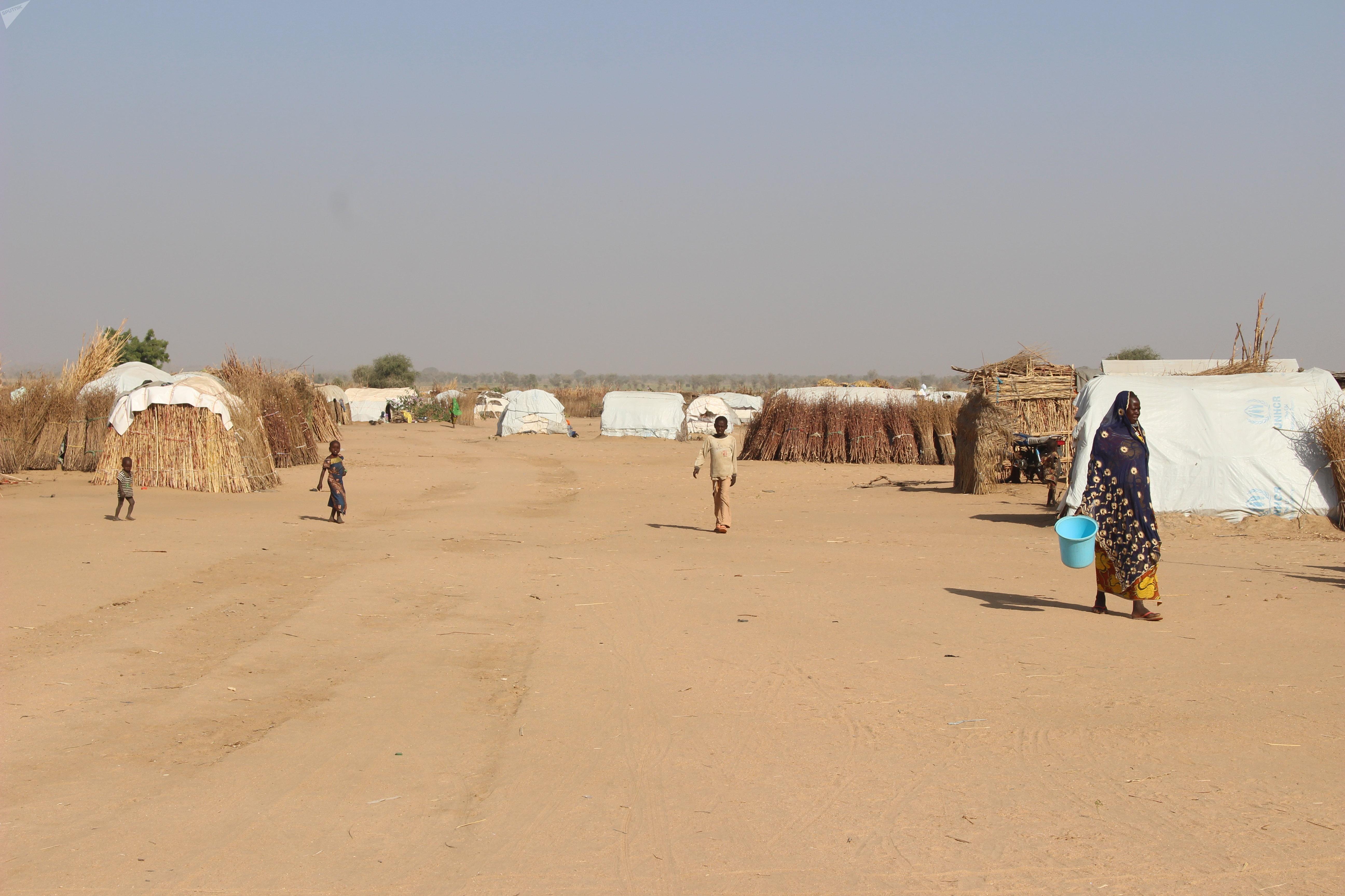 Des déplacés dans le camp de Igawa Mémé, à l'Extrême-Nord du Cameroun