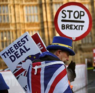 Manifestant anti-Brexit