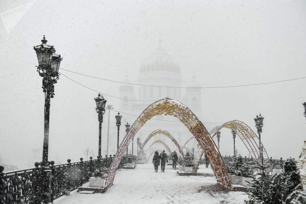 Moscou sous un manteau de neige