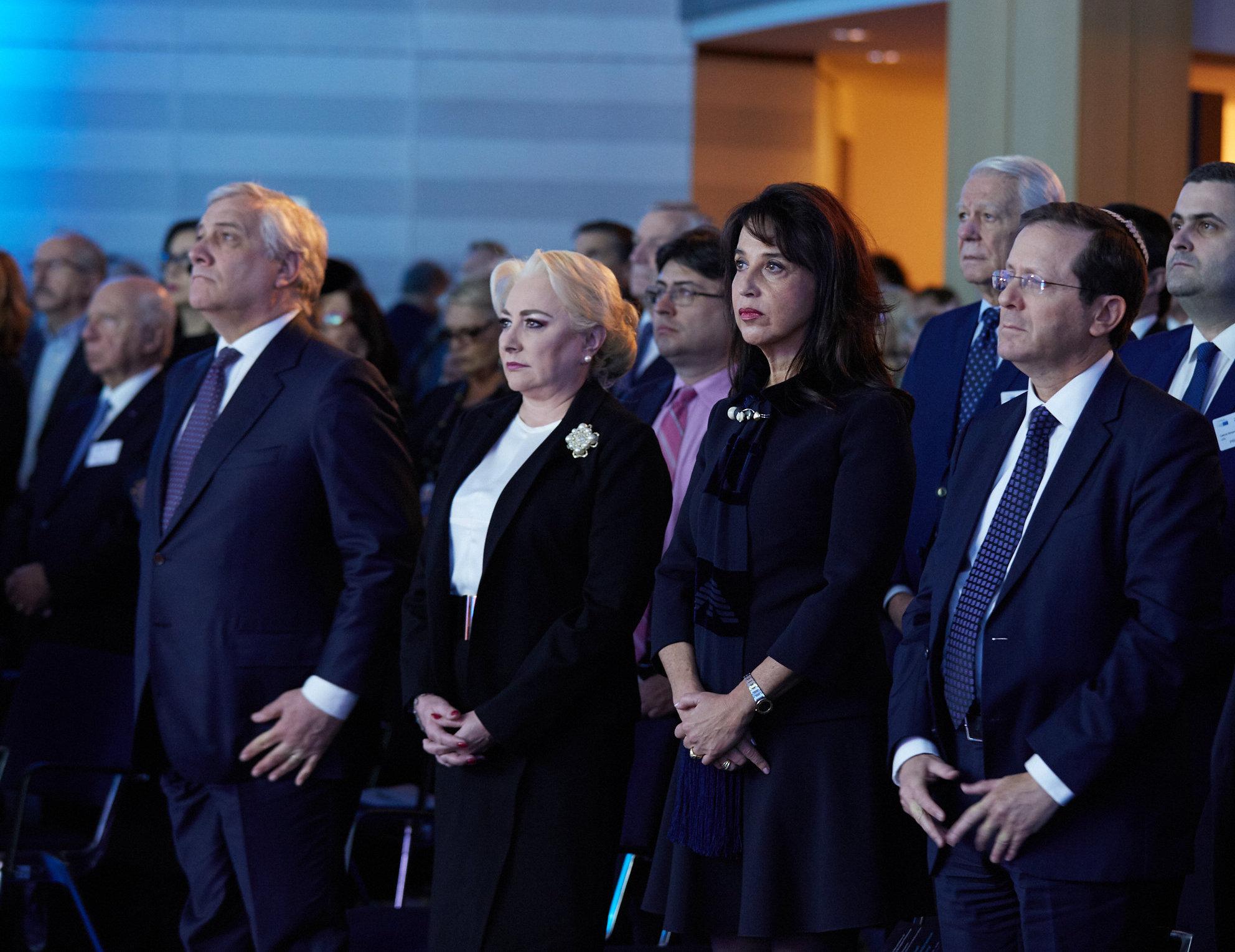 Les présidents des communautés juives d'Europe, des martyrs des camps d'extermination nazis et des élus européens se sont rassemblés au Parlement de l'UE pour rendre hommage aux victimes d'Holocauste le 23 janvier 2019.