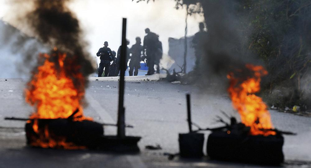 Protestations antigouvernementales à Caracas