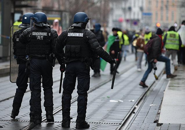 Un rassemblement de Gilets jaunes à Strasbourg, le 12 janvier 2019