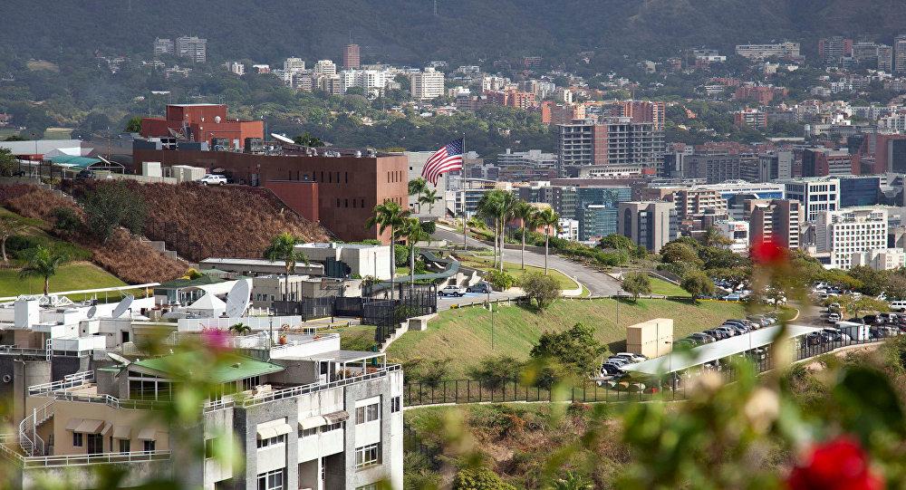 La Embajada de EEUU en Caracas, Venezuela