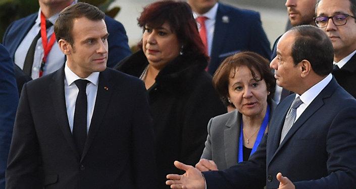 Macron en Egypte