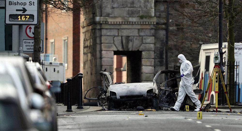 Une voiture a explosé samedi 19 janvier 2019 devant un tribunal de la ville de Londonderry, en Irlande du Nord