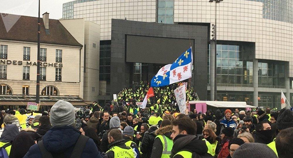 L'acte 12 des Gilets jaunes à Paris, le 2 février 2019
