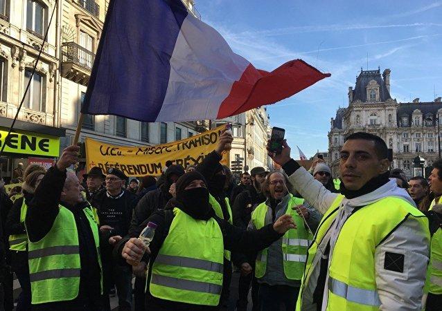 «Grève générale»: mobilisation nationale de la CGT et des Gilets jaunes à Paris, le 5 février 2019