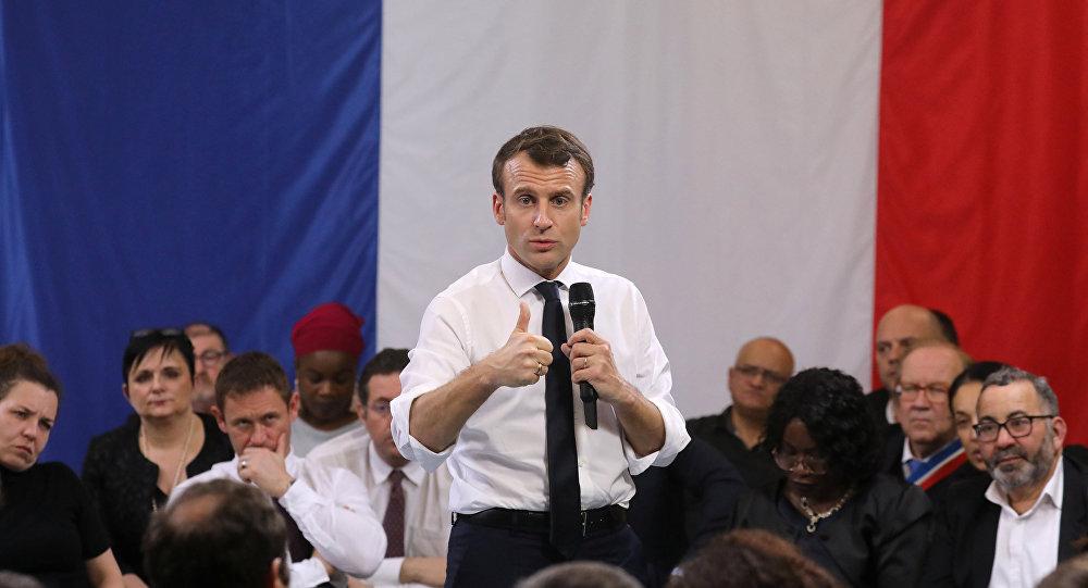 Emmanuel Macron à Courcouronnes