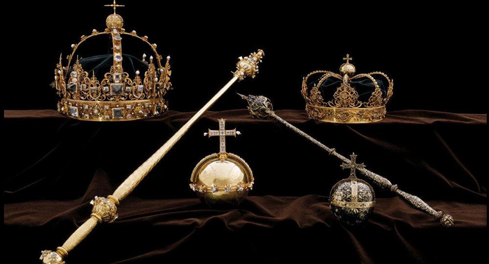La couronne royale suédoise datant du XVIIe siècle