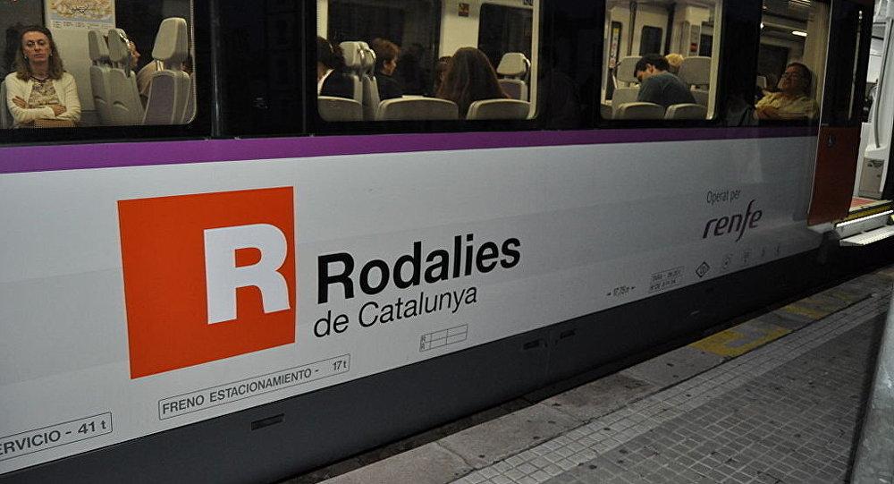 Un train du réseau Rodalies de Catalogne