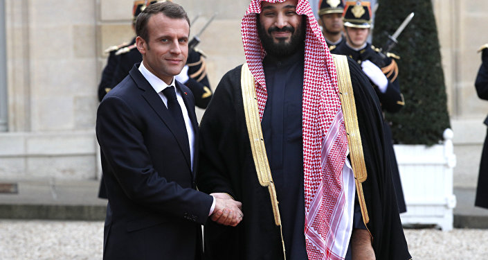 Emmanuel Macron et Mohammed bin Salman, 10 avril 2018 à Paris