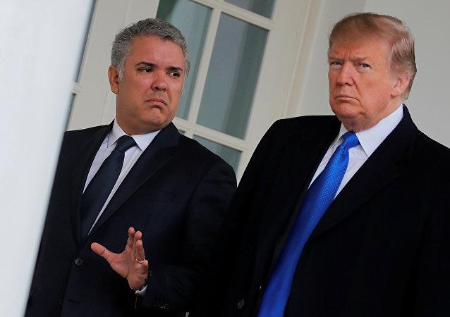 La réunion entre Donald Trump et Ivan Duque, dirigeant de la Colombie