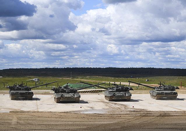 Des chars T-90 (image d'illustration)