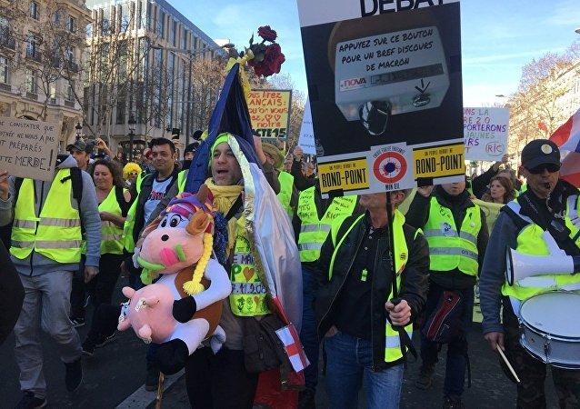 Les Gilets jaunes descendent de nouveau dans la rue à Paris (17 février 2019)