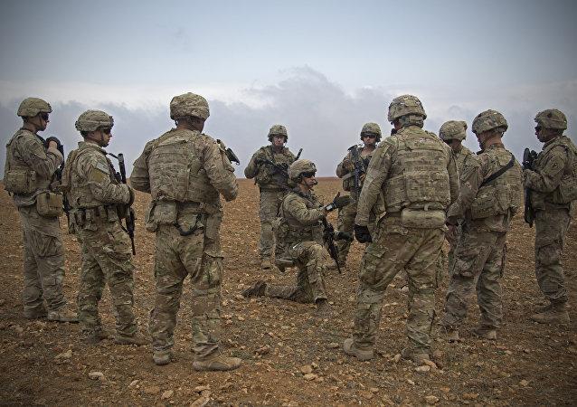Militaires américains à Manbij, en Syrie. Image d'illustration