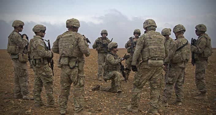Militaires US à Manbij, en Syrie