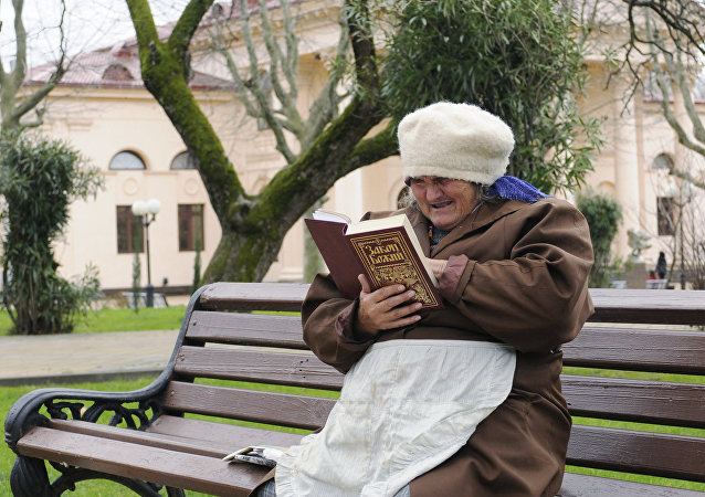 Une femme assise