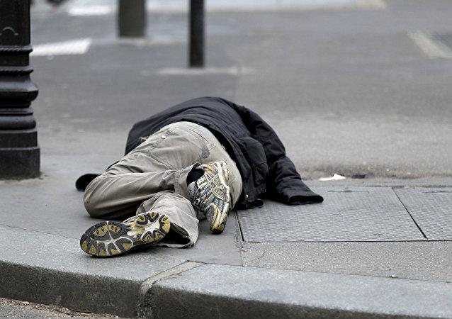 Un SDF en France