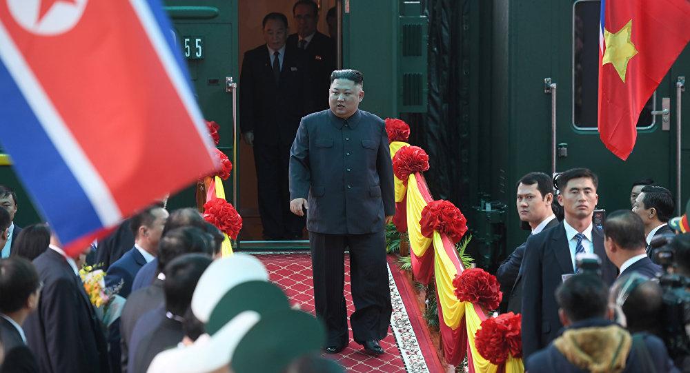 Kim Jong Un arrive au Vietnam