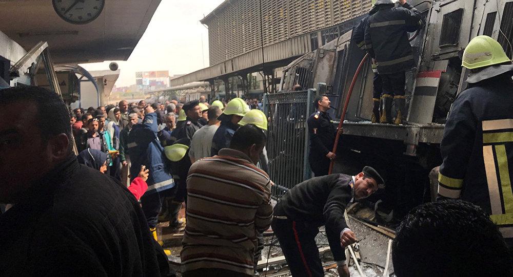Egypte : 20 morts dans un accident de train au Caire