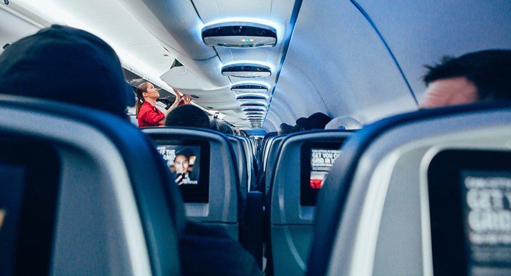 une cabine d'un avion