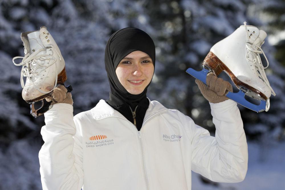 Zahra Lari, la première patineuse artistique en hijab