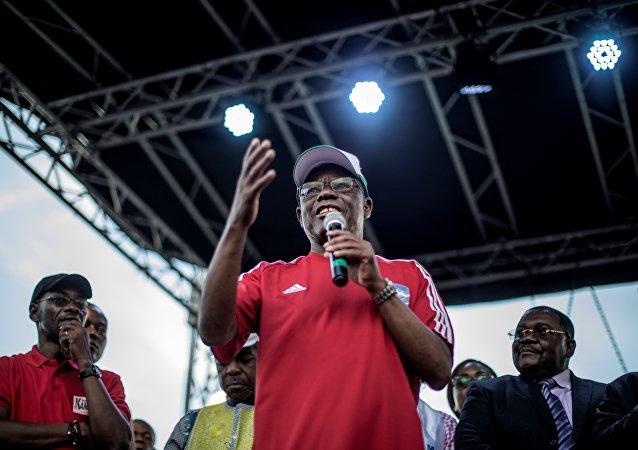 Maurice Kamto, président du Mouvement pour la renaissance du Cameroun (MRC), le 30 septembre 2018, Cameroun