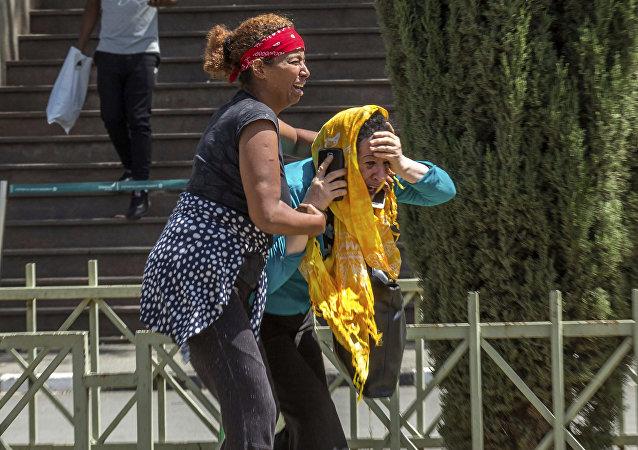 Membres de famille de victimes du crash d'avion en Éthiopie