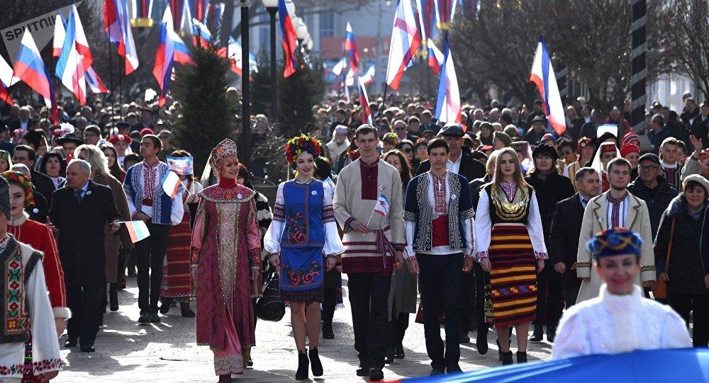 5e anniversaire du rattachement de la péninsule avec la Russie