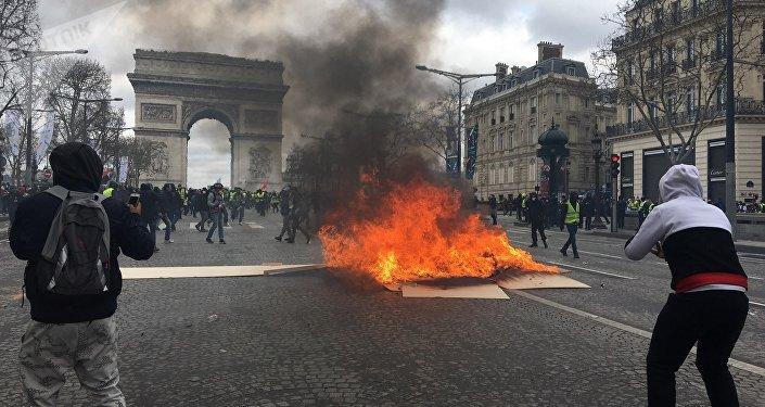 Acte 18: les Gilets jaunes défilent à Paris, le 16 mars 2019 (archives)