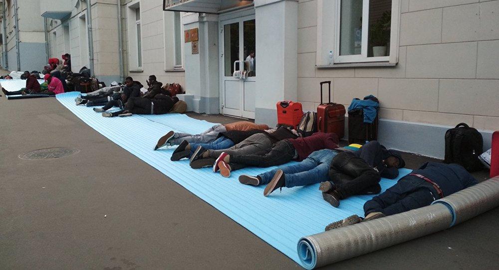 Les citoyens nigériens trompés par les passeurs, en attente de rapatriement – Moscou 2018