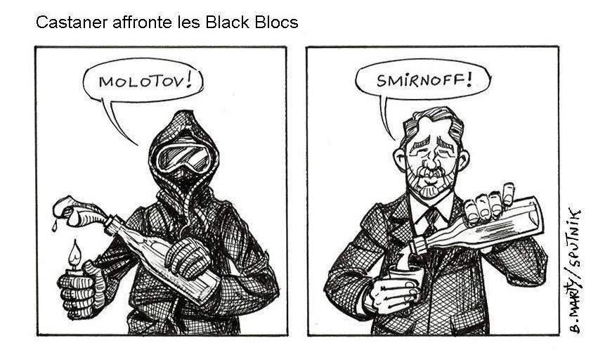 Maintien de l'ordre: Christophe Castaner affronte les black blocs