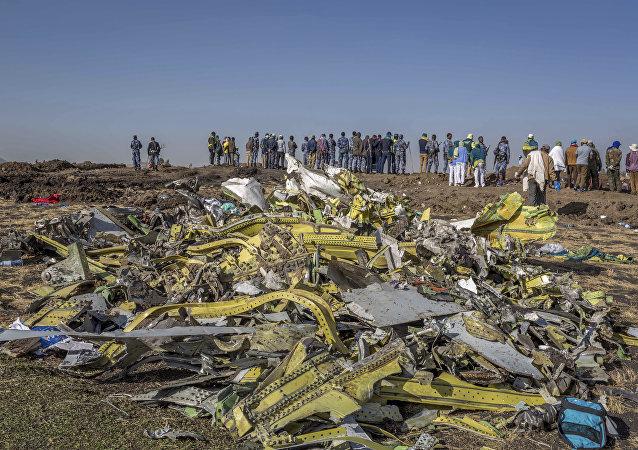 Lieu du crash du Boeing 737 MAX 8 éthiopien