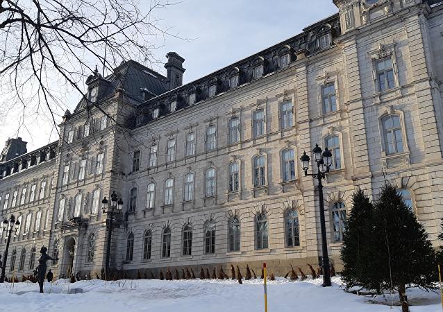 L'aile sud de l'Assemblée nationale du Québec, dans la ville de Québec (2019)