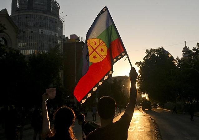 Le drapeau des indiens Mapuche
