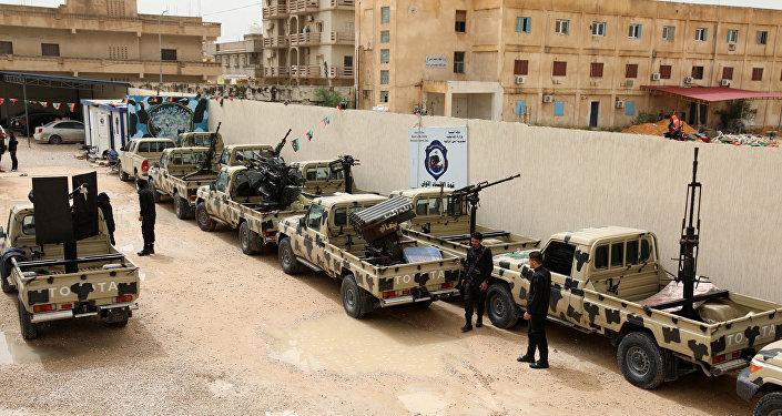 Des véhicules confisqués aux troupes fidèles au maréchal Haftar